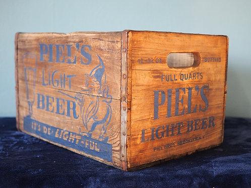 Piel's Light Beer Crate Cooler #1