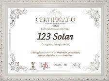 Post 123 Solar Certificado 03 09 2020 ce