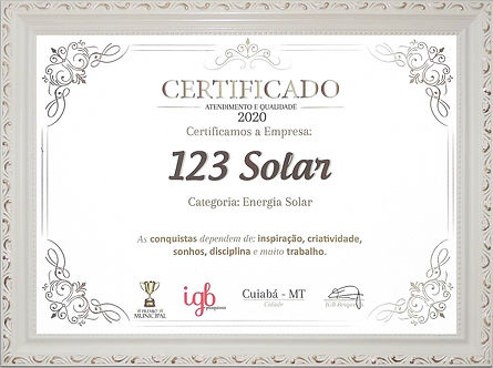 Post 123 Solar Certificado 03 09 2020 ce