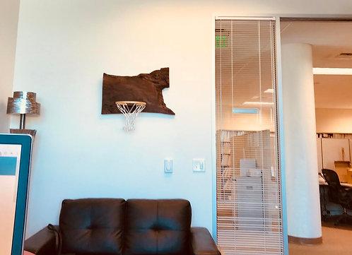 Live Edge Mini Basketball Hoop