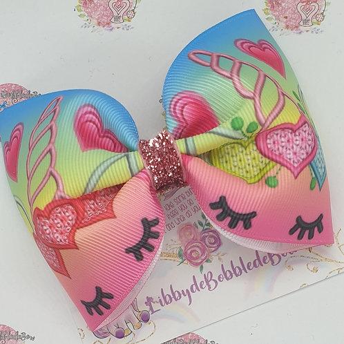 Unicorn Heart - Tux Bow (2 For £5)