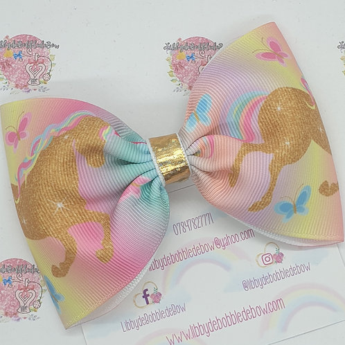 Gold Unicorn - Tux Bow (2 For £5)