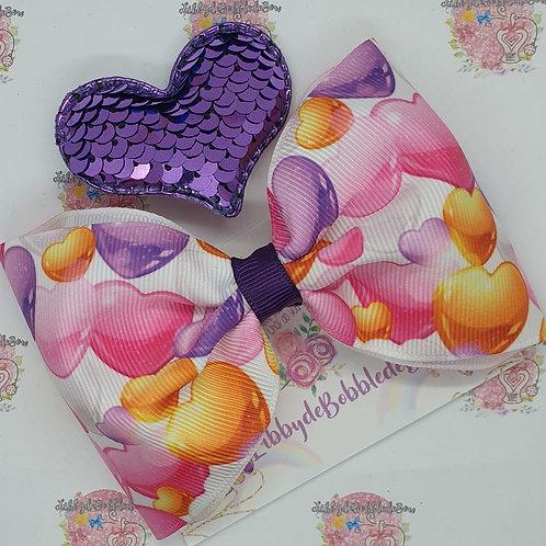 Bright Hearts - Tux Bow and Clip Set