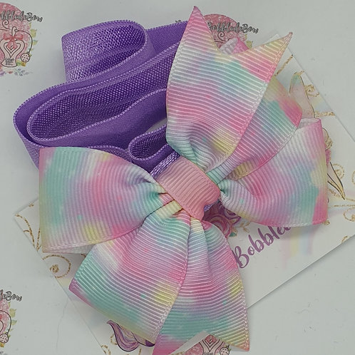 Pastel Galaxy Pinwheel Headband
