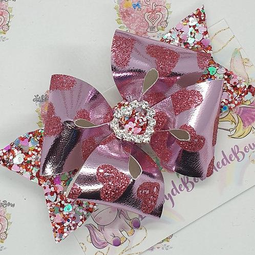 Glittered Hearts FranchideBobbledeBow