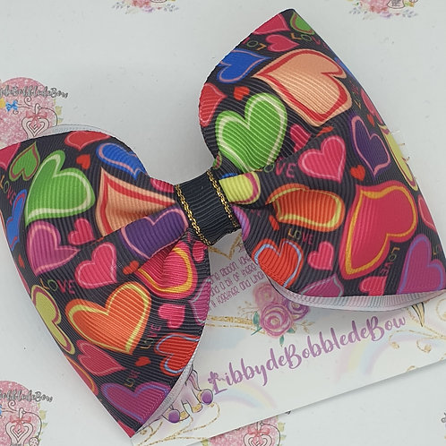 Multi Hearts - Tux Bow (2 For £5)
