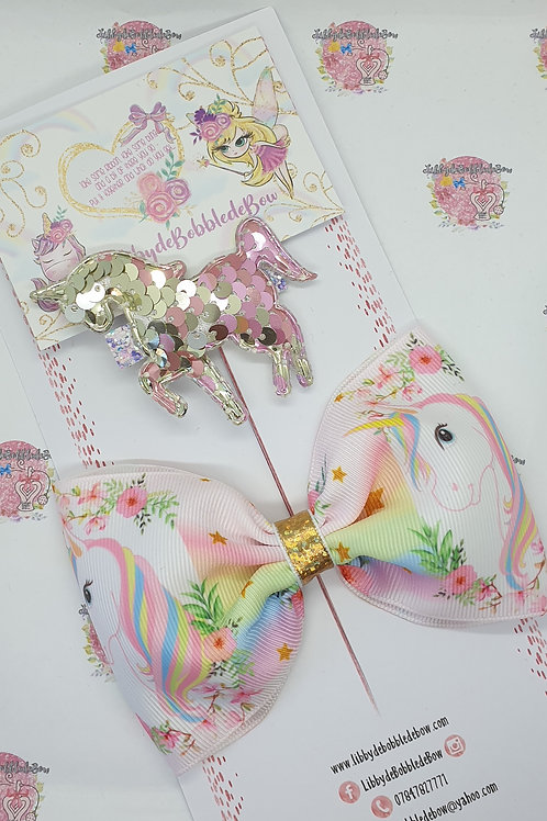 Pastel Beauty - Tux Bow and Clip Set