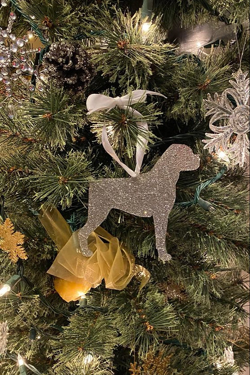 "4"" Glitter Boxer Christmas Ornaments"