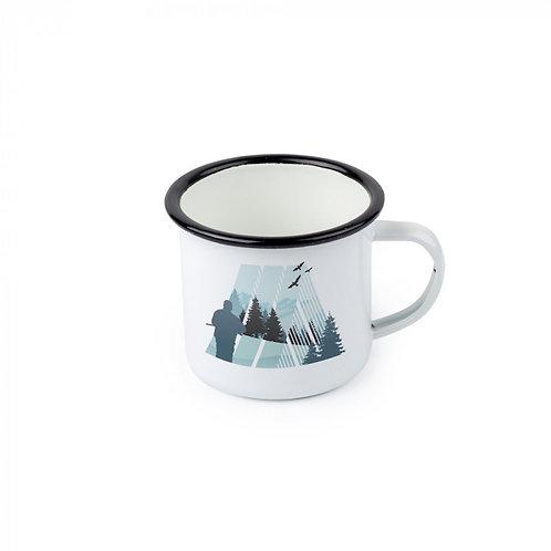 12 oz. Enamel Colored Rim Camp Mugs