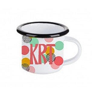 3 oz. Enamel Colored Rim Camp Mug Shot Glass