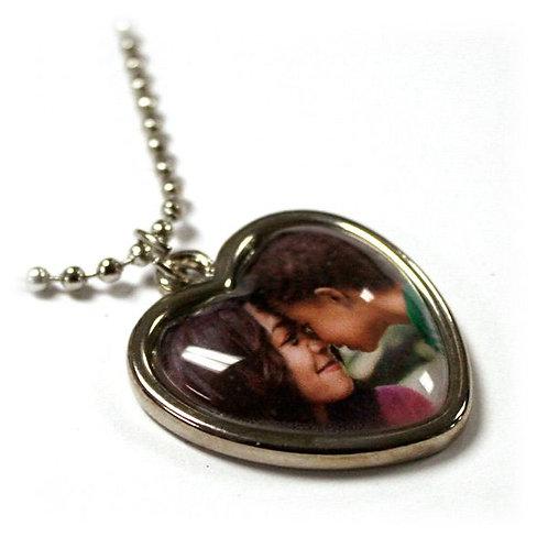 Framed Crystal Heart Charm