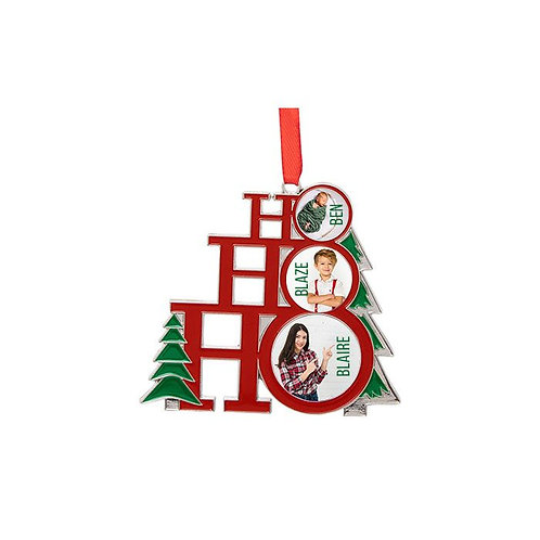 Sublimated  Metal HoHoHo 1-Sided Ornament