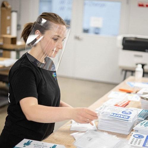 PPE Acrylic Face Shields - Adjustable Acrylic Band