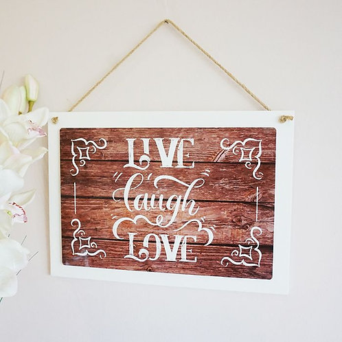 White Wood Hanging Rectangle with Sublimated Insert