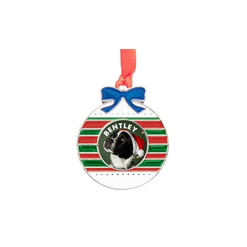 Sublimated  Metal Ball 1-Sided Ornament