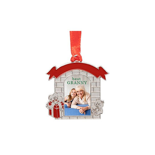 Sublimated  Metal Mantel 1-Sided Ornament