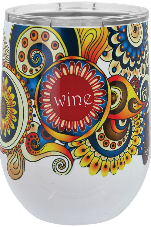 Full Color Polar Camel 12 oz. Stemless Wine Glass