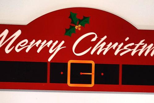 Merry Christmas Display Style Hardboard Sign