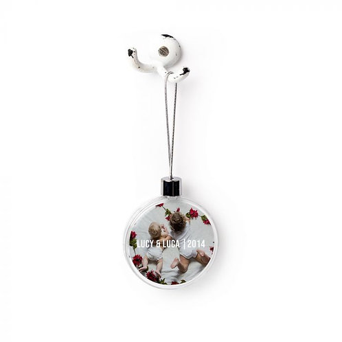 Sublimated  Medium Plastic Ball  1-Sided Ornament