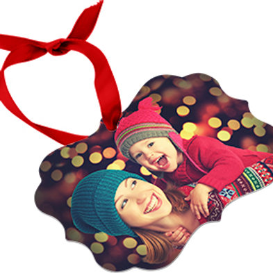 Sublimated Benelux 2 Sided Aluminum Ornament