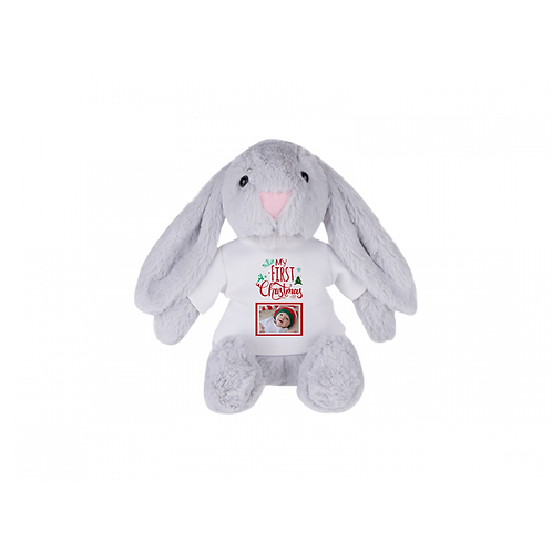 "8"" Stuffed Plush Bunny W/T-Shirt"