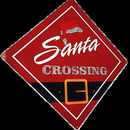 Santa Crossing Signs