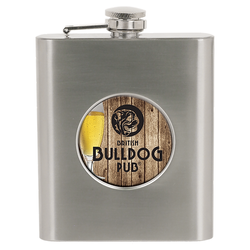 "SubliCool 2"" Metal Insert Holder 6oz Sublimated Flasks"