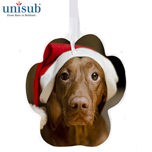 Sublimated  Paw 2 Sided Aluminum Ornament