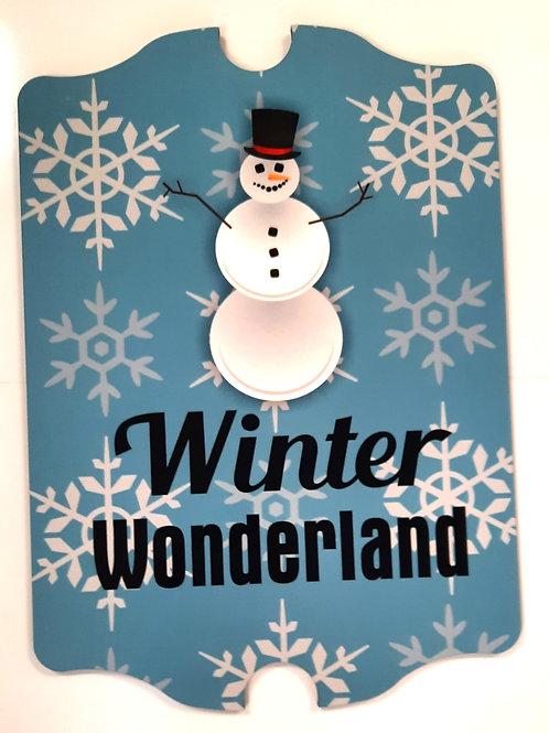 Winter Wonderland Antique Style Hardboard Sign