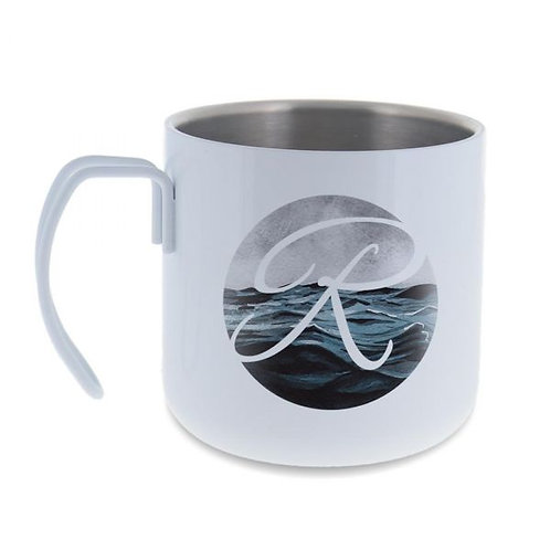 10 oz. White Stainless Steel Camp Mugs