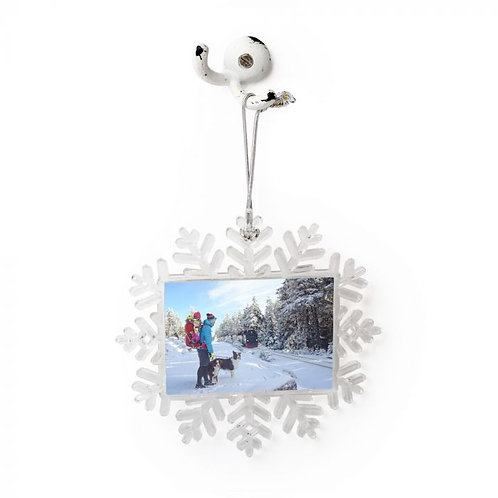 Sublimated  Large Plastic Snowflake 1-Sided Ornament