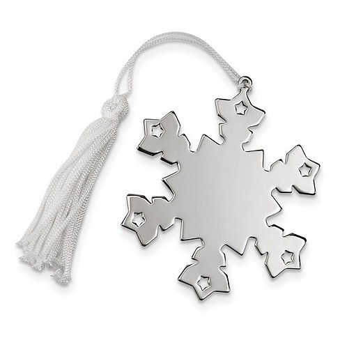 Engravable Snowflake 1-Sided Ornament