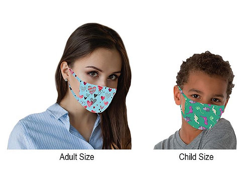 PPE Customized Cloth Face Masks - Adult & Child