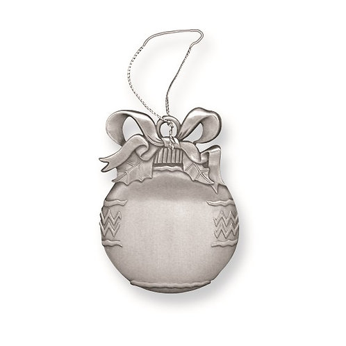 Engravable Pewter Ball 1-Sided Ornament
