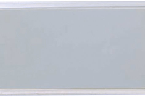"1 1/2"" x 3"" Square Framed Plastic Aluminum Name Badges"