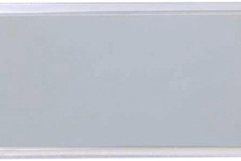 "1"" x 3"" Square Framed Plastic Aluminum Name Badges"