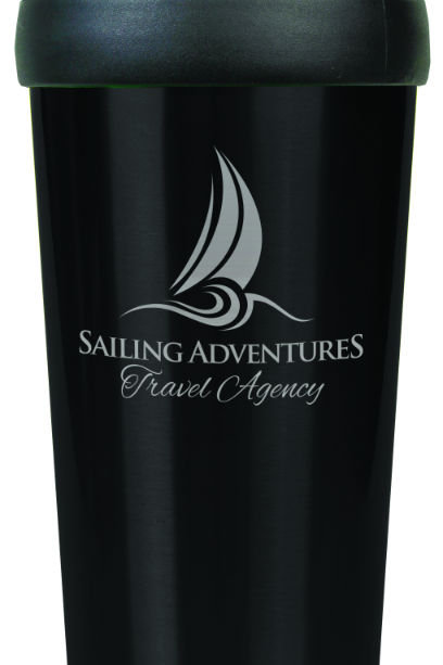 Glossy 16oz Engraved Travel Mugs W/O Handle