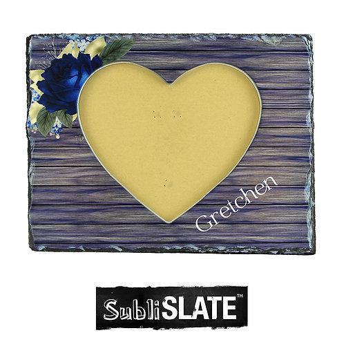 PhotoStone Heart Photo Frame Slate