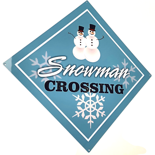 Snowman Crossing Signs