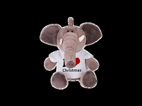 "8"" Stuffed Plush Elephant W/T-Shirt"