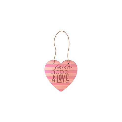 Plywood Heart Wall Hanging
