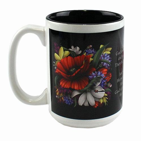 15 oz. Inner Color Deco Ceramic Mug