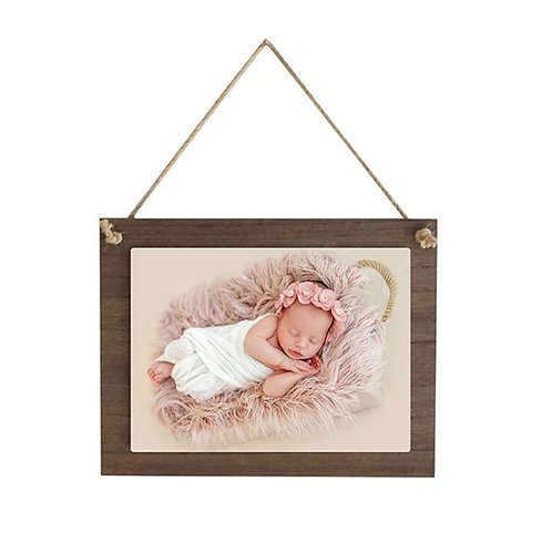 """6""""5 x 8.5"""" Wood Hanging Square with Sublimated Insert"""