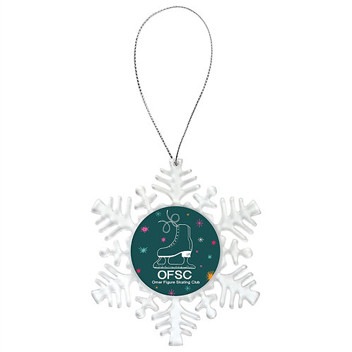 Sublimated  Acrylic Snowflake 2-Sided Ornament