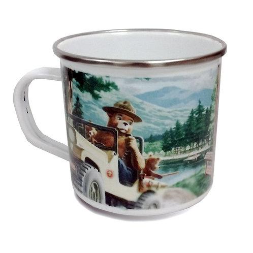 11 oz. Enamel Colored Stainless Rim Camp Mugs