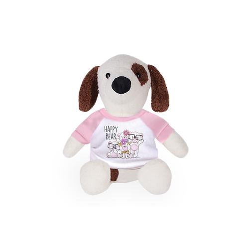 """8"""" Stuffed Plush Dog W/T-Shirt"""