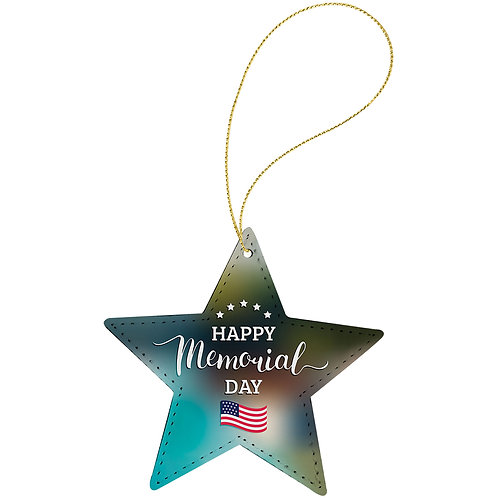 SubliTru  Fabric Star 1-Sided Ornament