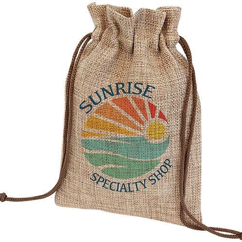 Subli-Burlap Drawstring Bag