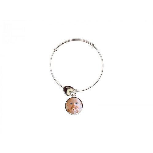 Circle Adjustable Photo Bracelet