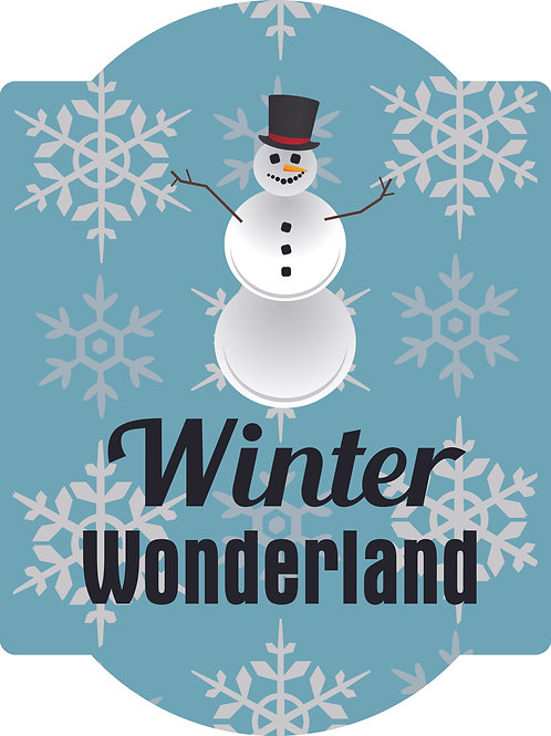 Winter Wonderland Arched Style Hardboard Sign